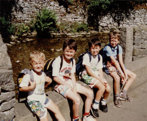 Our boys, Castleton, summer of 1989