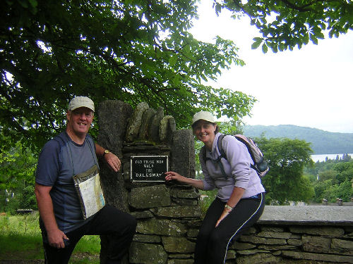 Linda and me an the end of the Dales Way
