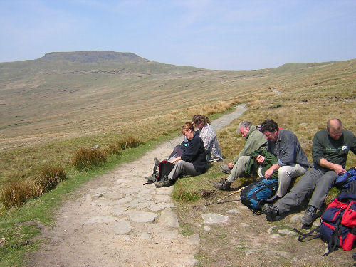 Our monthly walking group on a trip to Ingleborough